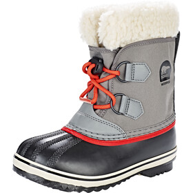 Sorel Yoot Pack Nylon Stivali Bambino, quarry/sail red